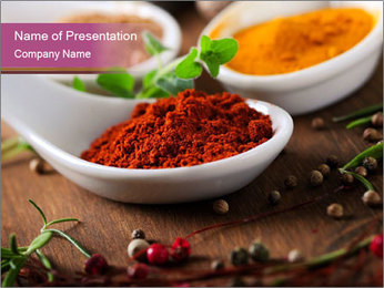 Spices PowerPoint Template - Slide 1