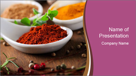 Spices PowerPoint Template