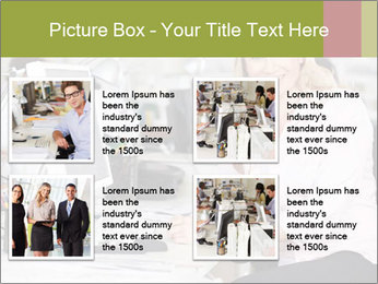 Woman Working At Desk PowerPoint Templates - Slide 14