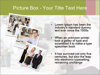 Woman Working At Desk PowerPoint Templates - Slide 17