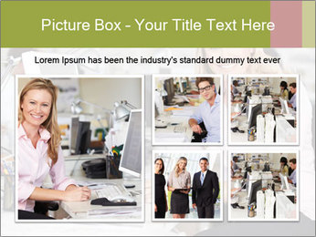Woman Working At Desk PowerPoint Templates - Slide 19