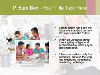 Woman Working At Desk PowerPoint Templates - Slide 20