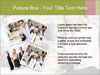 Woman Working At Desk PowerPoint Templates - Slide 23