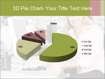 Woman Working At Desk PowerPoint Templates - Slide 35