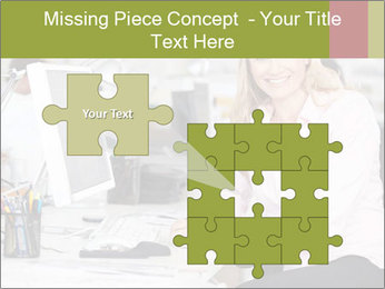 Woman Working At Desk PowerPoint Templates - Slide 45