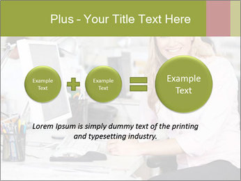 Woman Working At Desk PowerPoint Templates - Slide 75