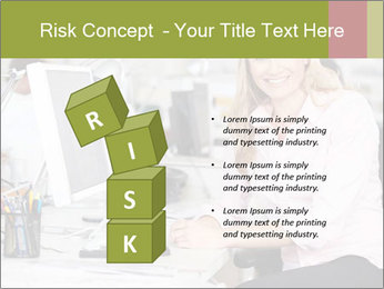 Woman Working At Desk PowerPoint Templates - Slide 81