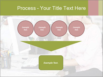 Woman Working At Desk PowerPoint Templates - Slide 93
