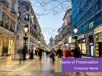 Spain PowerPoint Template - Slide 1