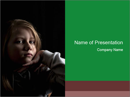 Victim of child abuse PowerPoint Template