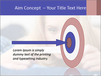 Beautiful young woman PowerPoint Template - Slide 83