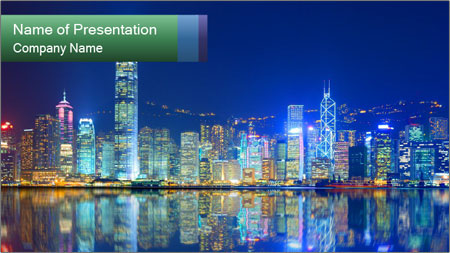 Hong Kong Island PowerPoint Template