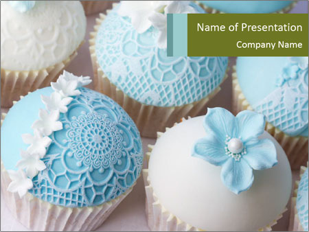 Wedding cupcakes PowerPoint Templates