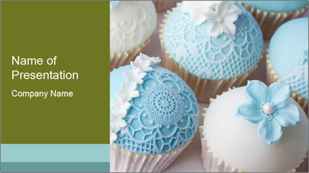 Wedding cupcakes PowerPoint Template