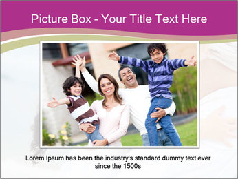 Girl loving her pregnant mother PowerPoint Template - Slide 16
