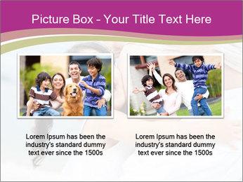 Girl loving her pregnant mother PowerPoint Templates - Slide 18