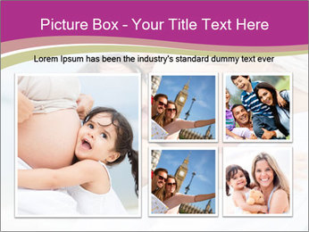 Girl loving her pregnant mother PowerPoint Template - Slide 19