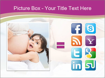 Girl loving her pregnant mother PowerPoint Template - Slide 21