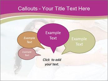 Girl loving her pregnant mother PowerPoint Templates - Slide 73