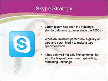 Girl loving her pregnant mother PowerPoint Templates - Slide 8