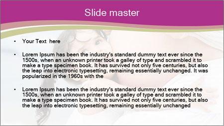 Girl loving her pregnant mother PowerPoint Template - Slide 2
