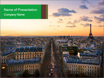 View of the Eiffel tower PowerPoint Templates - Slide 1