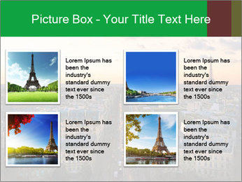View of the Eiffel tower PowerPoint Templates - Slide 14