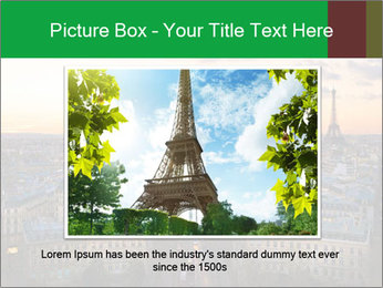 View of the Eiffel tower PowerPoint Templates - Slide 15