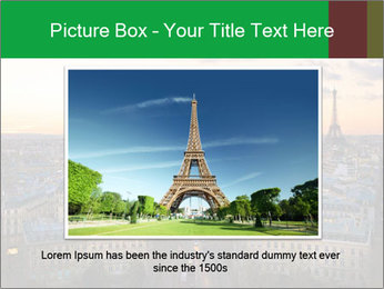 View of the Eiffel tower PowerPoint Templates - Slide 16