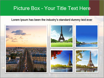 View of the Eiffel tower PowerPoint Templates - Slide 19