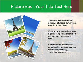 View of the Eiffel tower PowerPoint Templates - Slide 23