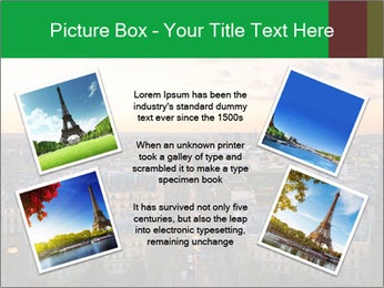 View of the Eiffel tower PowerPoint Templates - Slide 24