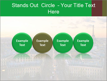 View of the Eiffel tower PowerPoint Templates - Slide 76