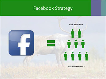 Male Caribou Grazing PowerPoint Templates - Slide 7