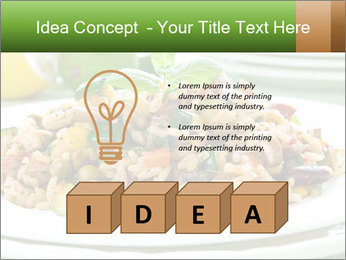 Risotto with chicken and vegetables PowerPoint Templates - Slide 80