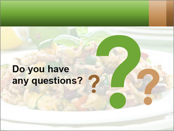 Risotto with chicken and vegetables PowerPoint Templates - Slide 96