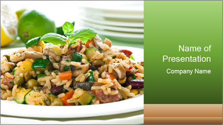 Risotto with chicken and vegetables PowerPoint Template