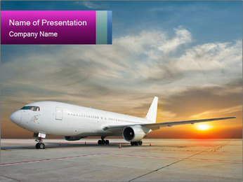 Commercial airplane PowerPoint Templates - Slide 1