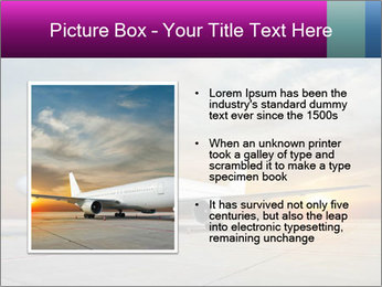 Commercial airplane PowerPoint Templates - Slide 13