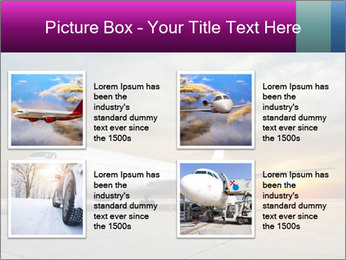 Commercial airplane PowerPoint Template - Slide 14