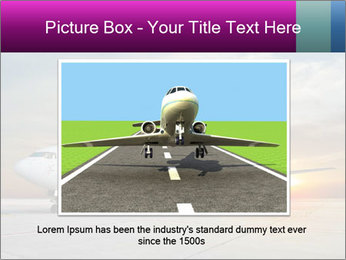 Commercial airplane PowerPoint Template - Slide 15