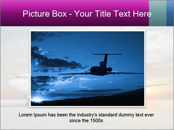 Commercial airplane PowerPoint Templates - Slide 16