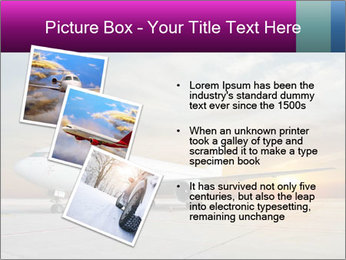 Commercial airplane PowerPoint Template - Slide 17