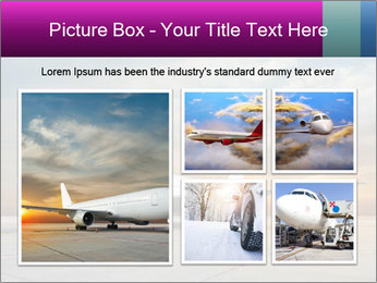 Commercial airplane PowerPoint Templates - Slide 19