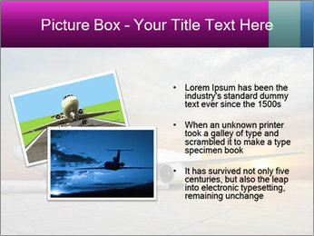 Commercial airplane PowerPoint Template - Slide 20