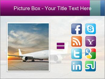 Commercial airplane PowerPoint Templates - Slide 21