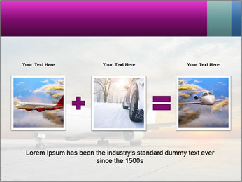 Commercial airplane PowerPoint Template - Slide 22