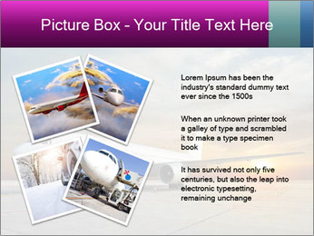 Commercial airplane PowerPoint Template - Slide 23