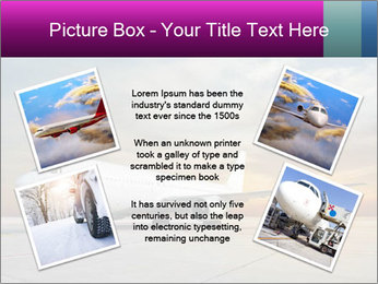Commercial airplane PowerPoint Template - Slide 24