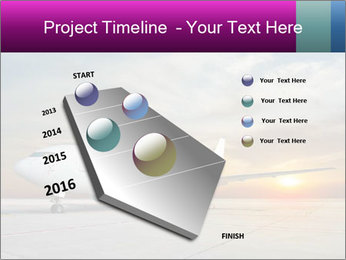 Commercial airplane PowerPoint Templates - Slide 26
